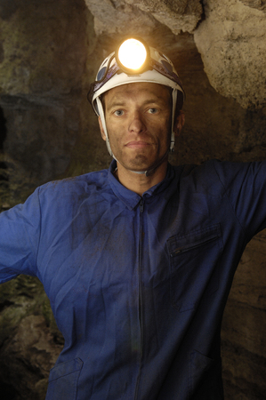 portrait of a miner working
