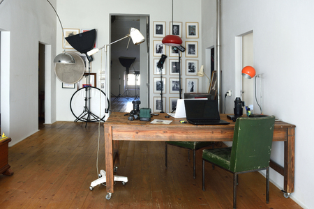 photo studio in an old space Editorial