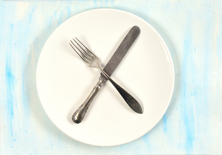 the sign of the cutlery on the table Archivio Fotografico