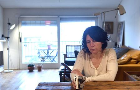 portrait of a sadness woman