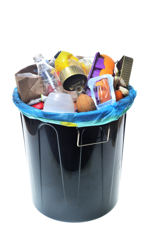 garbage on white background