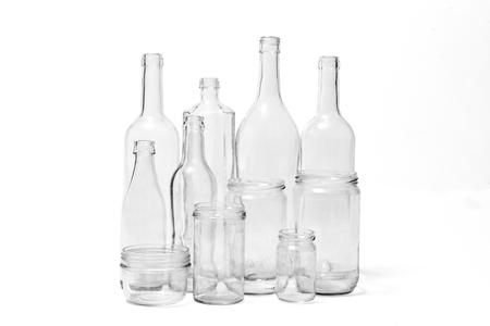 glass bottles on white background 免版税图像
