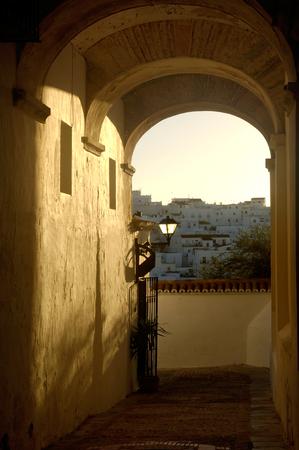 Vejer de la Frontera, Street, Cadiz province, Andalucia, Spain 報道画像