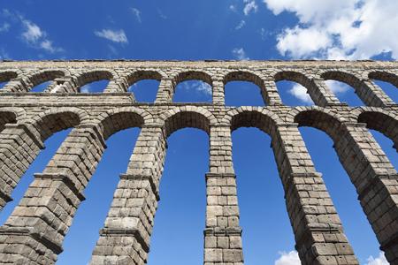 Roman aqueduct of Segovia, Castilla-Leon, Spain Editorial