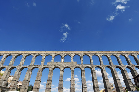 Roman aqueduct of Segovia, Castilla-Leon, Spain Stock Photo