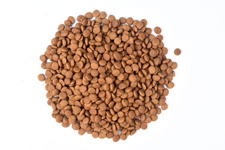 closeup of cat's food