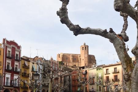 square of Balaguer, Lleida province, Catalonia, Spain Banco de Imagens