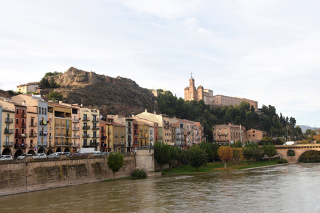 view of  Balaguer, Lleida province, Catalonia, Spain Banco de Imagens - 114700643