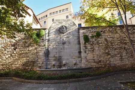Els Lladoners square of Girona, Catalonia, Spain