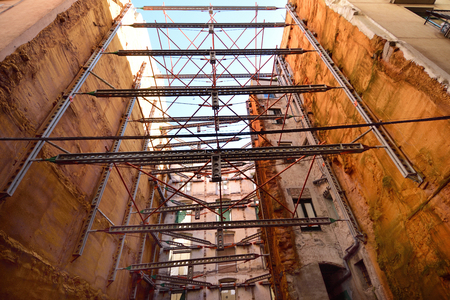 auxiliary structures and supports old town of Girona, Catalonia, Spain