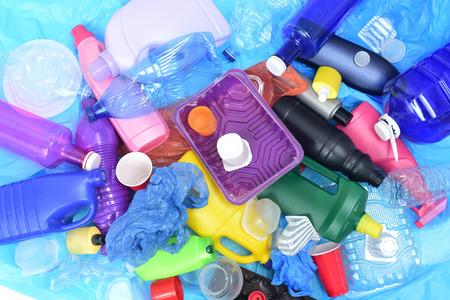 Nahaufnahme von einem Recycling-Kunststoff