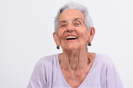 Older woman making laughter