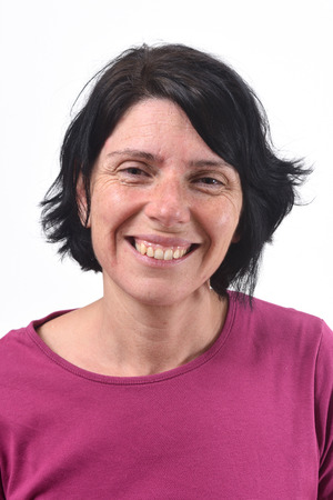 portrait of a middle-aged woman without makeup Stock Photo