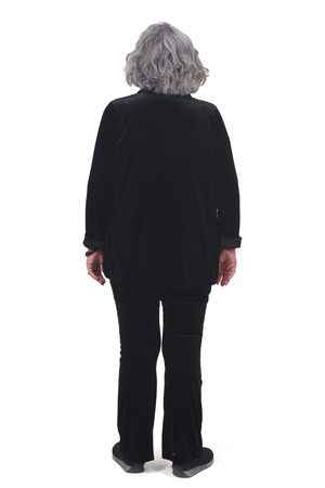 full portrait of a woman from behind