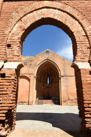 Ruins of the Church of Saint Martin, (13th century)  Niebla, Huelva province, Andalusia, Spain Banque d'images - 122302404