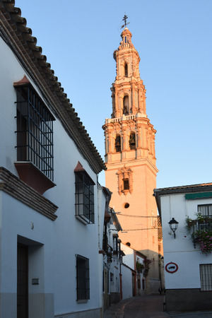 church bell tower of San Gil,  Ecija, Seville Province, Andalusia, Spain Banco de Imagens