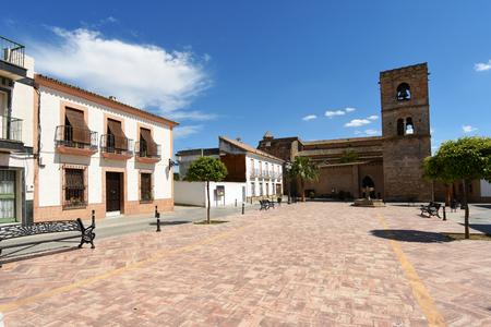 Church of Santa Maria de la Granada, Condado de Niebla, Huelva province, Andalusia, Spain Stock Photo