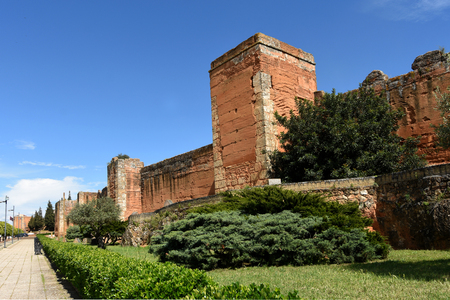 Arab wall of  Niebla, Huelva province, Andalucia, Spain Stock Photo