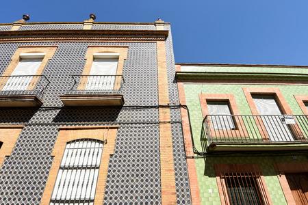 typical house of Condado de Niebla, Huelva province, Andalusia, Spain Stock Photo