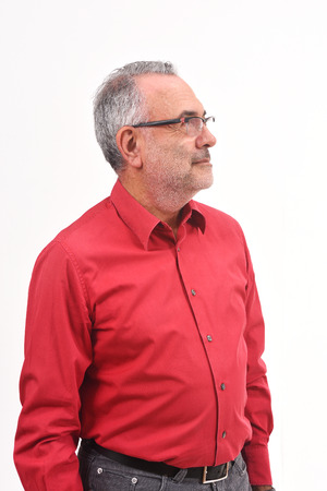 portrait of a man on white background
