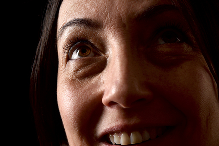 skin texture of middle aged woman