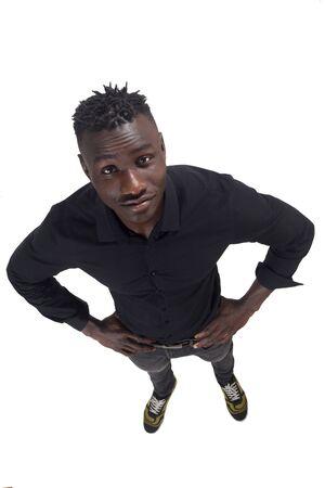 Porträt eines Mannes mit Händen an der Taille Standard-Bild