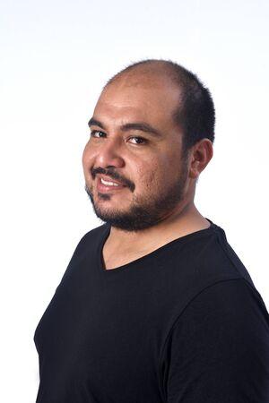 portrait of a latin american man, smiling Stockfoto