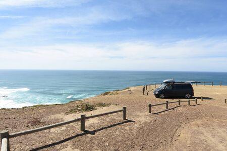 seascape from the viewpoint of Castelejo, Vila do Bispo, Algarve, Portugal