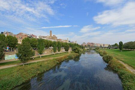 view of Lleida, Catalonia, Spain
