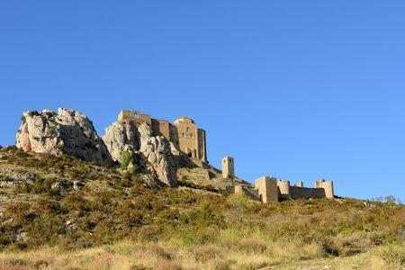 castle of Loarre, Huesca province, Aragon, Spain 版權商用圖片 - 150500652