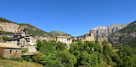 village of Torla, Ordesa and Monte Perdido, National Park, Huesca province, Aragon, Spain