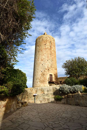 Tower Les Hores, old tow of Pals, Girona province, Catalonia, Spain