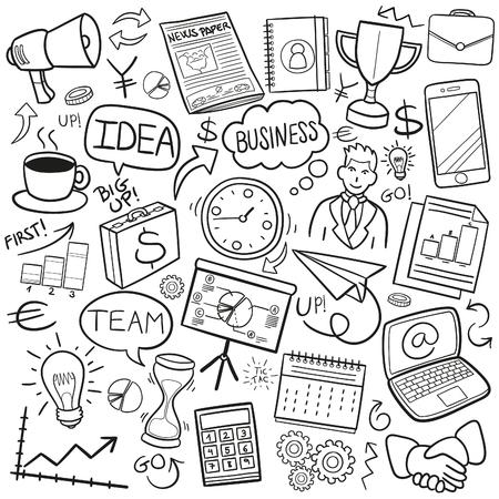 Business Financial Work Gekritzel Icon Sketch Vector Art Standard-Bild - 78978088