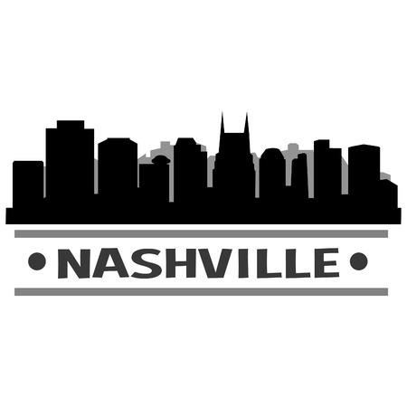 Nashville Skyline Vector Art City Design