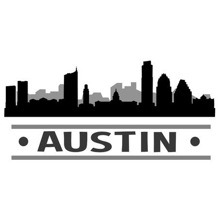オースティンのスカイライン ベクトル芸術の都市デザイン  イラスト・ベクター素材