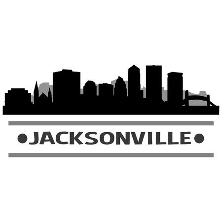 Jacksonville Skyline Vector Art City Design