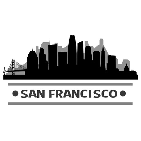 San Francisco City Skyline Vector Art Design