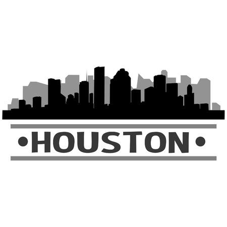 Houston Skyline Vector Art City Design