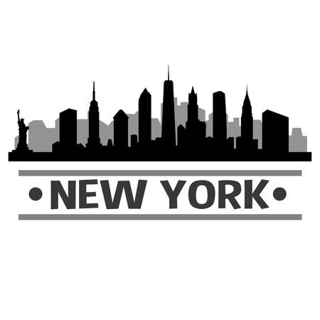 New York Skyline Vector Art City Design