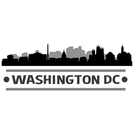 Washington DC Skyline Vector Art City Design Illustration