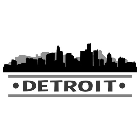 Detroit Skyline Vector Art City Design