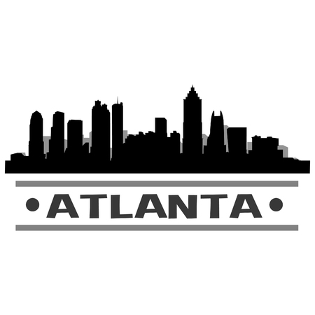 Atlanta Skyline Vector Art City Design
