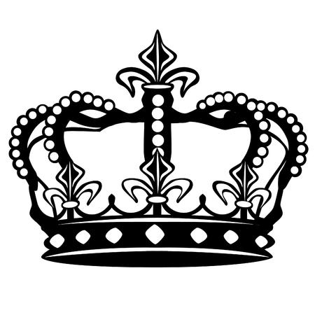 Krone Silhouette Clip Art Design Vektor Symbol König Standard-Bild - 91779838