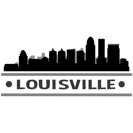 Louisville Kentucky United States Of America USA Icon Vector Art Design Skyline Flat City Silhouette Editable Template Illustration