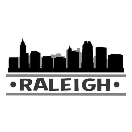Raleigh North Carolina United States Of America USA Icon Vector Art Design Skyline Flat City Silhouette Editable Template