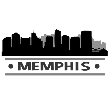 Memphis Tennessee United States Of America USA Icon Vector Art Design Skyline Flat City Silhouette Editable Template