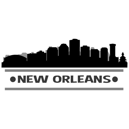 New Orleans Louisiana United States Of America USA Icon Vector Art Design Skyline Flat City Silhouette Editable Template