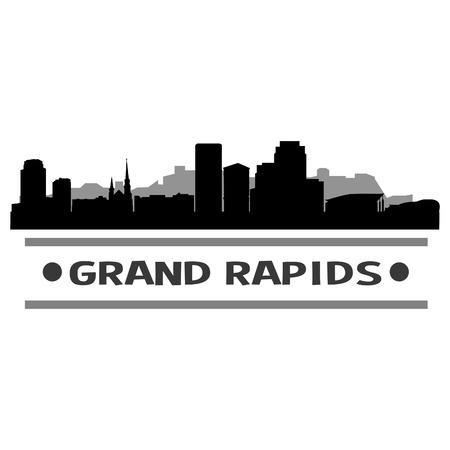 Grand Rapids Michigan United States Of America USA Icon illustration.