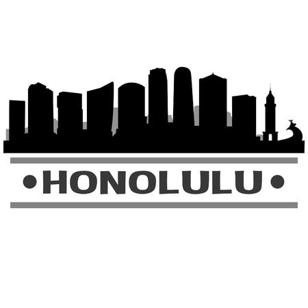 Honolulu Hawaii United States Of America USA Icon illustration.
