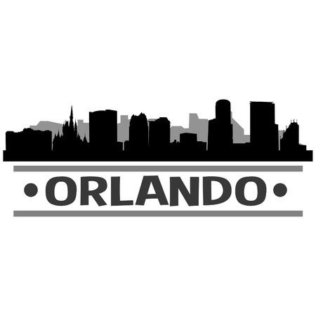 Orlando United States Of America USA Icon illustration. Illustration